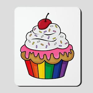Rainbow cupcake Mousepad