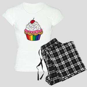 Rainbow cupcake Women's Light Pajamas