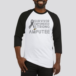 Amputee- Survivor, Empowered, Strong Baseball Jers