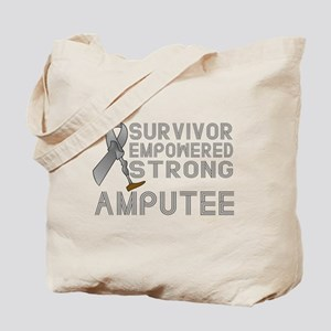 Amputee- Survivor, Empowered, Strong Tote Bag