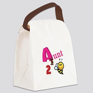 Aunt 2 Bee Canvas Lunch Bag