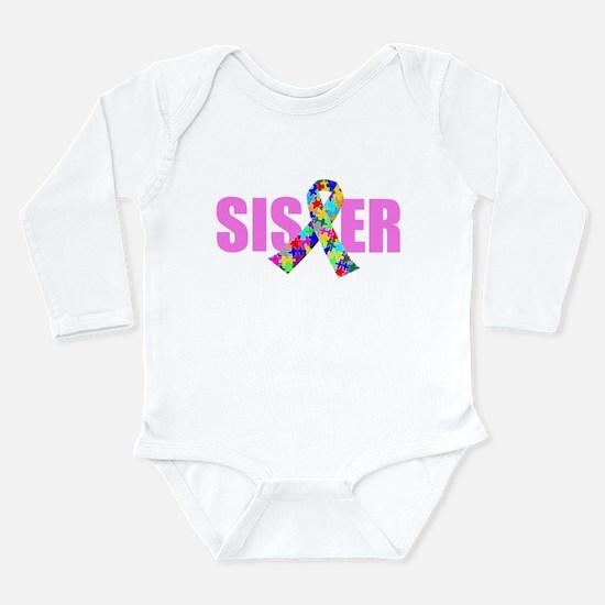 Autism Sister Long Sleeve Infant Bodysuit
