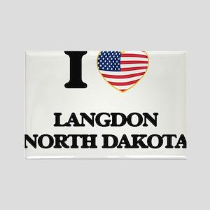 I love Langdon North Dakota Magnets