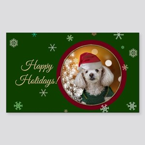 Happy Holidays Toy Poodle Sticker