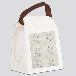 Dragonfly Garden Canvas Lunch Bag