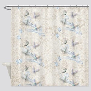 Dragonfly Garden Shower Curtain