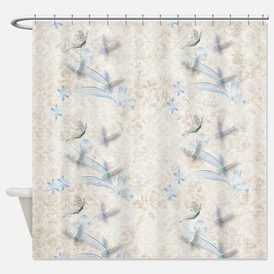 Dragonfly Garden Shower Curtain