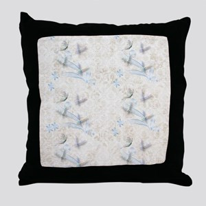 Dragonfly Garden Throw Pillow