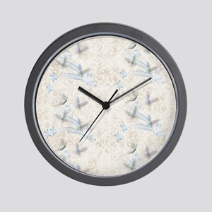 Dragonfly Garden Wall Clock