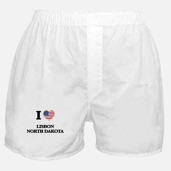 I love Lisbon North Dakota Boxer Shorts