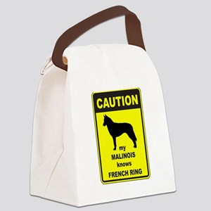 BELGIAN MALINOIS FRENCH RING Canvas Lunch Bag