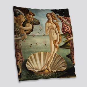 Birth Of Venus Burlap Throw Pillow