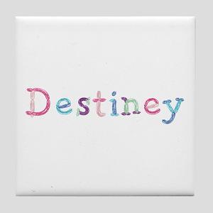 Destiney Princess Balloons Tile Coaster
