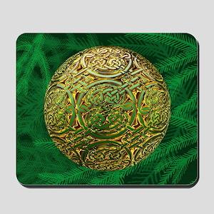 Golden celtic Ornament Mousepad