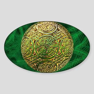 Golden celtic Ornament Sticker (Oval)