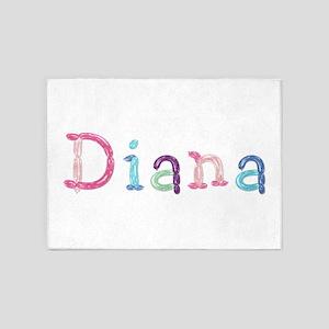 Diana Princess Balloons 5'x7' Area Rug