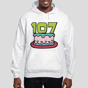 107 Year Old Birthday Cake Hooded Sweatshirt