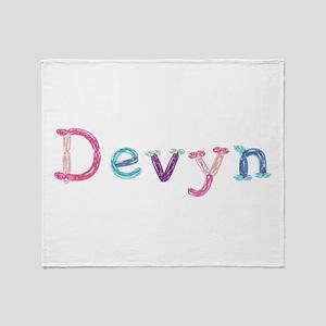 Devyn Princess Balloons Throw Blanket