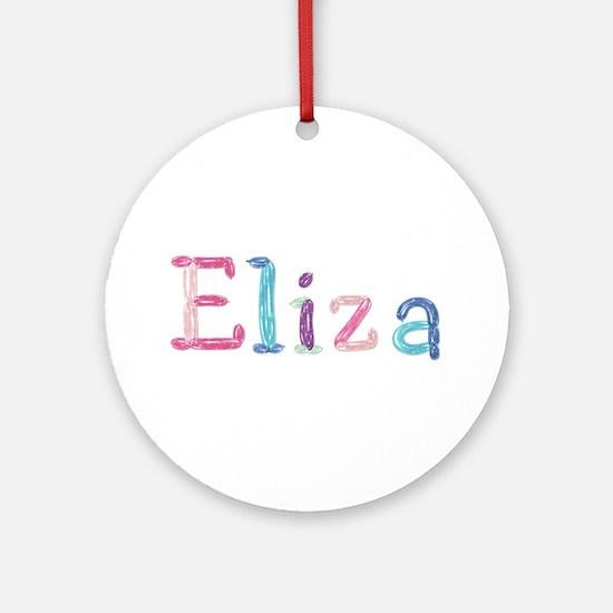 Eliza Princess Balloons Round Ornament