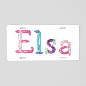 Elsa Princess Balloons Aluminum License Plate