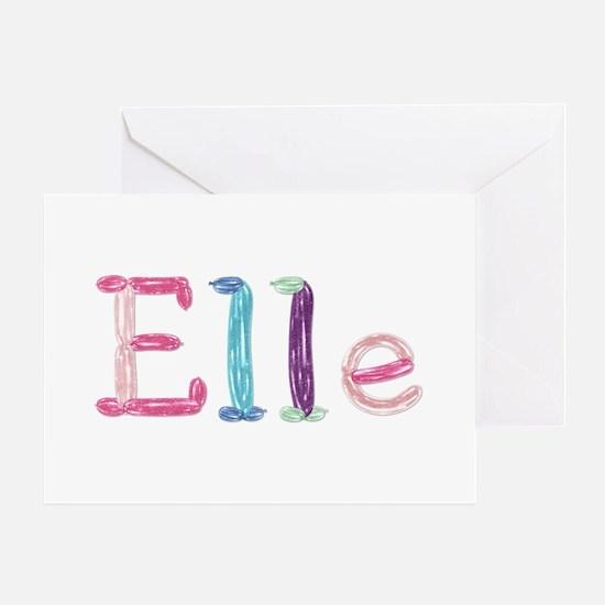Elle Princess Balloons Greeting Card