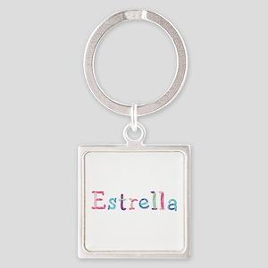 Estrella Princess Balloons Square Keychain