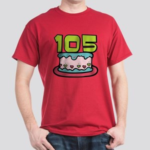 105 Year Old Birthday Cake Dark T-Shirt