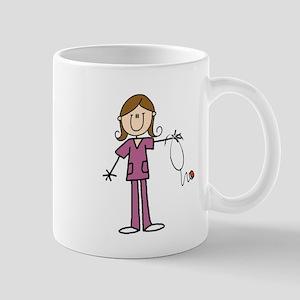 Brunette Female Nurse Mug