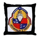 USS HERBERT J. THOMAS Throw Pillow
