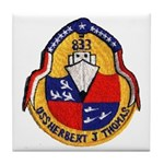 USS HERBERT J. THOMAS Tile Coaster
