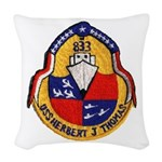 USS HERBERT J. THOMAS Woven Throw Pillow