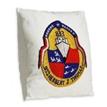 USS HERBERT J. THOMAS Burlap Throw Pillow