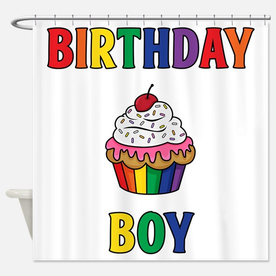 Birthday Boy Shower Curtain