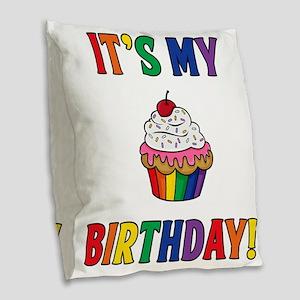 It's My Birthday! Burlap Throw Pillow