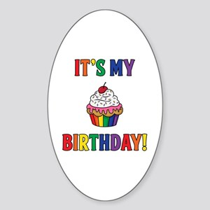 It's My Birthday! Sticker (Oval)