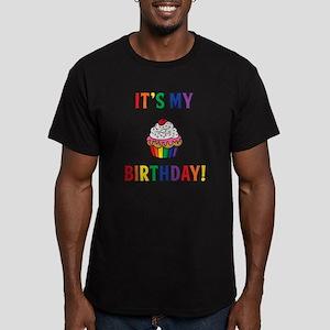 It's My Birthday! Men's Fitted T-Shirt (dark)