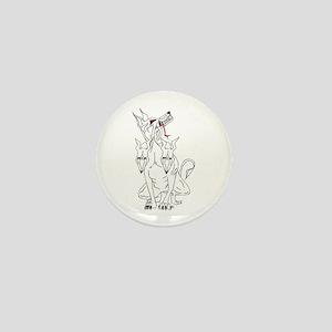Cerberus Hellhound Mini Button