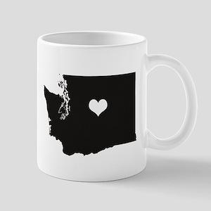 Heart in Washington State Mugs