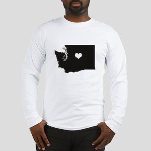 Heart in Washington State Long Sleeve T-Shirt