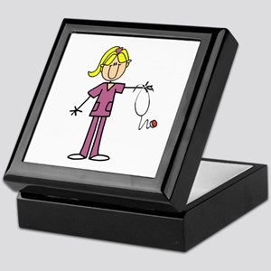 Blond Female Nurse Keepsake Box