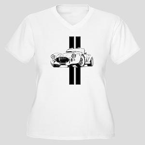 cobra car Women's Plus Size V-Neck T-Shirt
