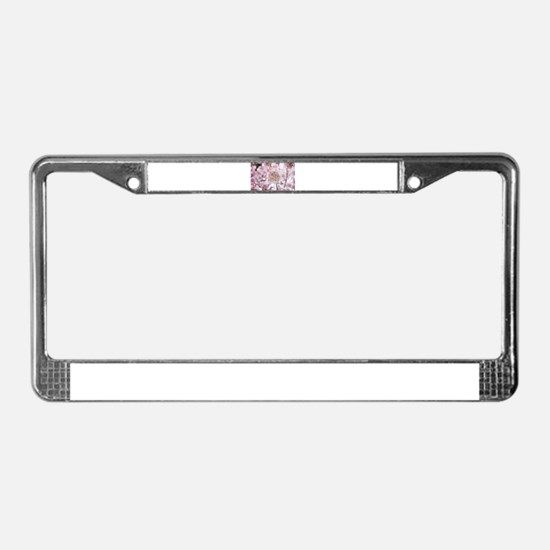 Funny Cherry blossoms License Plate Frame