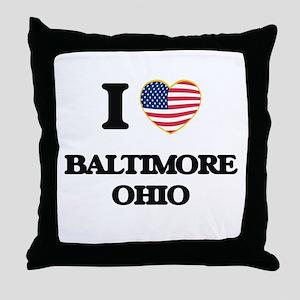 I love Baltimore Ohio Throw Pillow