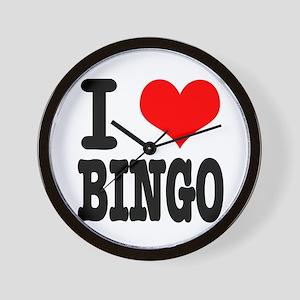 I Heart (Love) Bingo Wall Clock