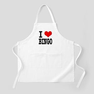 I Heart (Love) Bingo BBQ Apron