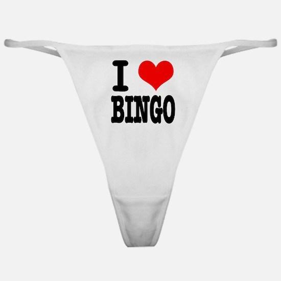 I Heart (Love) Bingo Classic Thong