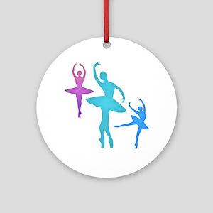 Ballerina Sillouettes Ornament (Round)