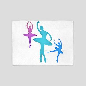 Ballerina Sillouettes 5'x7'Area Rug