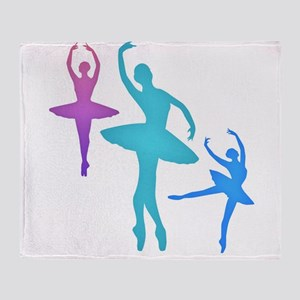 Ballerina Sillouettes Throw Blanket