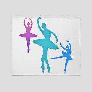 Ballerina Sillouettes Throw Blanket
